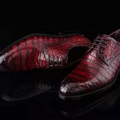 Туфли ручной работы. Ярмарка Мастеров - ручная работа Туфли мужские из кожи крокодила, LUX класса. Handmade.
