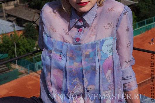 Блузки ручной работы. Ярмарка Мастеров - ручная работа. Купить Прозрачность. Handmade. Блузка, рубашка из шифона, блузка с рисунком