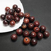 handmade. Livemaster - original item Bubinga beads Africa valuable tree ball 18mm. Handmade.