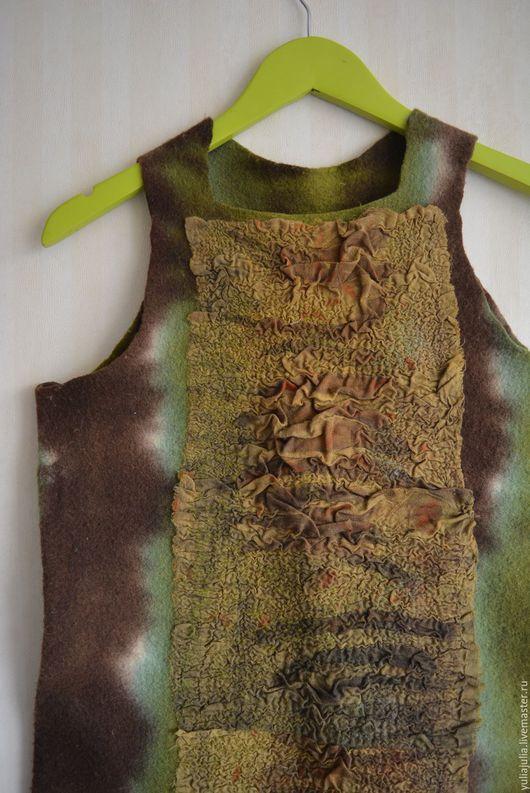 Платья ручной работы. Ярмарка Мастеров - ручная работа. Купить Платье-Сарафан. Handmade. Зеленый, платье зеленое, шерсть 100%