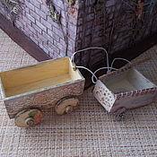 Техника, роботы, транспорт ручной работы. Ярмарка Мастеров - ручная работа Тачка и тележка для куклы, игрушки.. Handmade.