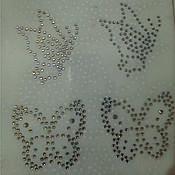 """Аппликации ручной работы. Ярмарка Мастеров - ручная работа Аппликация  """"бабочка"""" из страз. Handmade."""