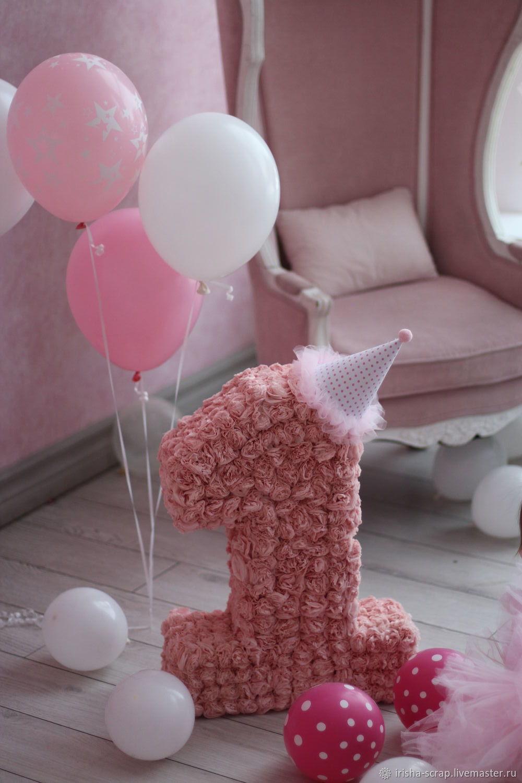 Цифра на день рождения малышки, Оформление мероприятий, Москва,  Фото №1