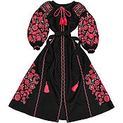 """Одежда ручной работы. Ярмарка Мастеров - ручная работа Длинное платье с клиньями """"Чудо-Дерево"""". Handmade."""