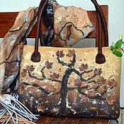"""Обувь ручной работы. Ярмарка Мастеров - ручная работа Комплект авторский валяный """"The Wild Tree"""". Handmade."""