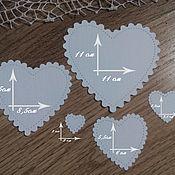 Материалы для творчества handmade. Livemaster - original item !Cutting for scrapbooking SET of the HEART with perforation of. Handmade.