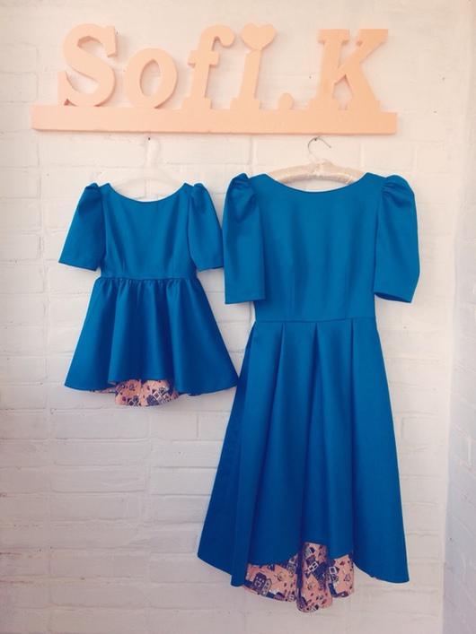 Платья ручной работы. Ярмарка Мастеров - ручная работа. Купить Family look. Дизайнерские платья. Handmade. Дизайнерская одежда