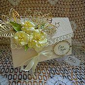 Открытки ручной работы. Ярмарка Мастеров - ручная работа Конверт для денег на свадьбу, свадебный конверт,подарок молодоженам. Handmade.