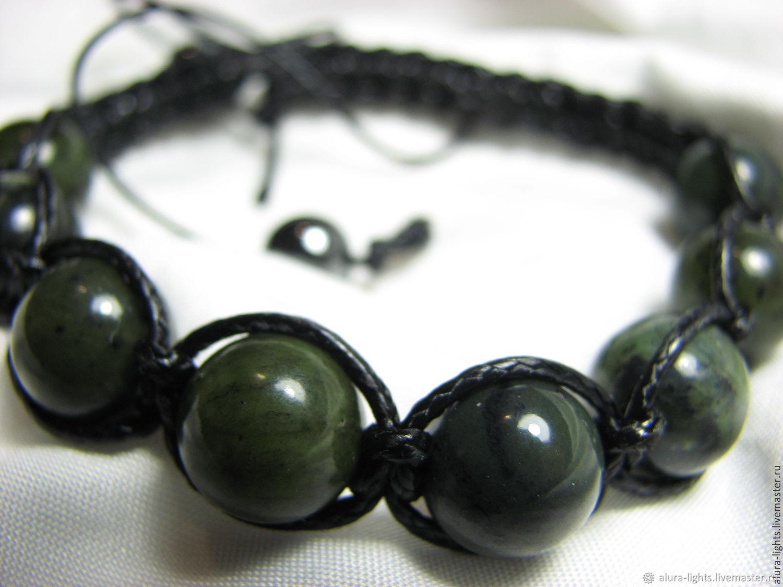 Shamballa bracelet with jade Baikal 'Breath of Spring', Bead bracelet, Moscow,  Фото №1