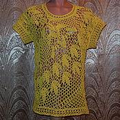 Одежда ручной работы. Ярмарка Мастеров - ручная работа Пуловер желтый. Handmade.