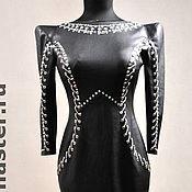 Одежда ручной работы. Ярмарка Мастеров - ручная работа Платье из кожи. Handmade.