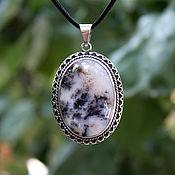 Украшения handmade. Livemaster - original item Valeria pendant with moss agate in a frame of 925 sterling silver SP0079. Handmade.