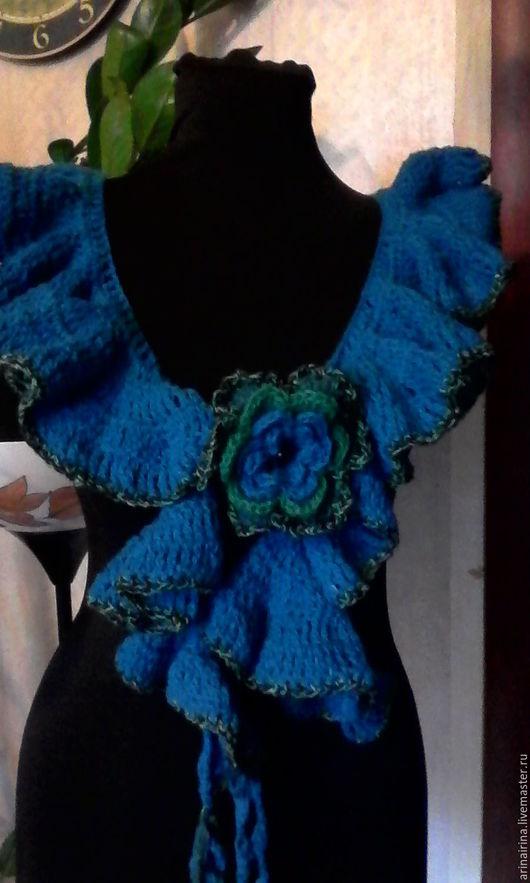 Шарфы и шарфики ручной работы. Ярмарка Мастеров - ручная работа. Купить шарф - спираль Морская волна. Handmade. Морская волна
