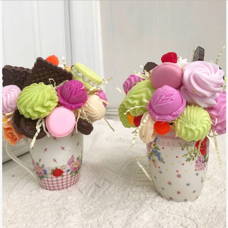 Мыльные сладости в подарочной чашке, Мыло, Москва, Фото №1