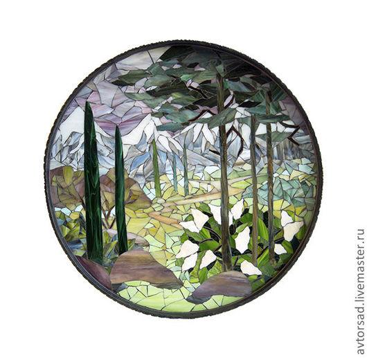 Мозаичная картина `Горный пейзаж`