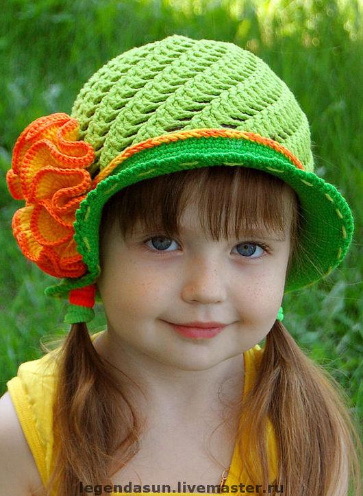 """Шляпы ручной работы. Ярмарка Мастеров - ручная работа. Купить Шляпка """"Оранжевое настроение"""" (описание). Handmade. Шляпка, орнамент"""