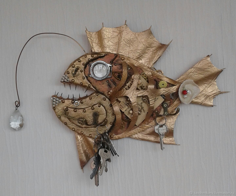 Вешалка-ключница Золотая рыбка-3, Сувениры, Кисловодск, Фото №1