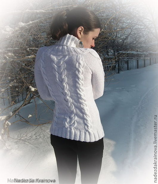 Кофты и свитера ручной работы. Ярмарка Мастеров - ручная работа. Купить Свитер. Handmade. Белый, теплая одежда