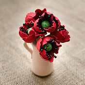 Цветы и флористика ручной работы. Ярмарка Мастеров - ручная работа Маки из фоамирана. Handmade.