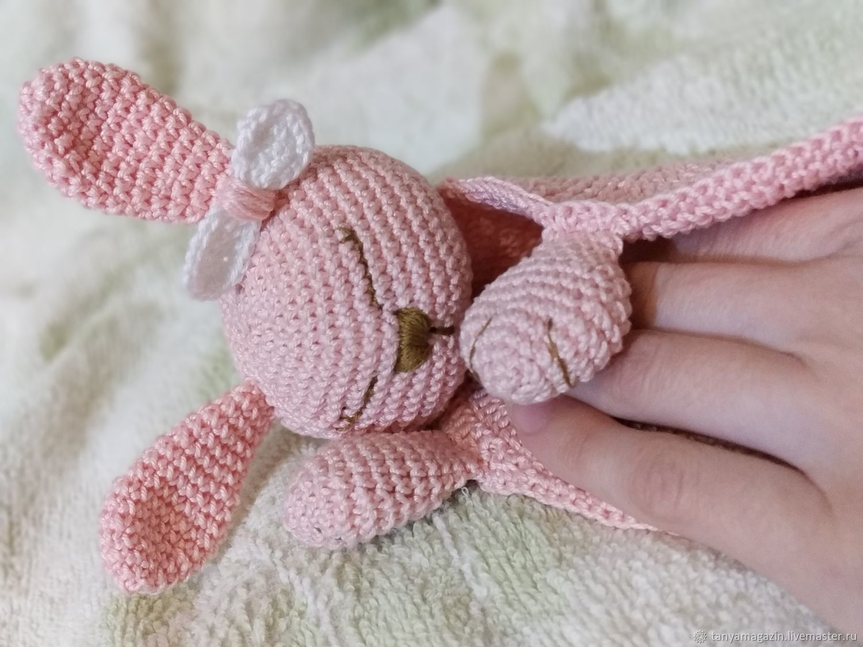 Comfort knitted for newborn. Komforter Bunny, Stuffed Toys, Sarapul,  Фото №1