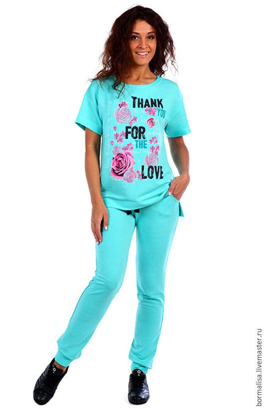 """Костюмы ручной работы. Ярмарка Мастеров - ручная работа. Купить Костюм """"Thank for love"""". Handmade. Коралловый, спортивный костюм"""