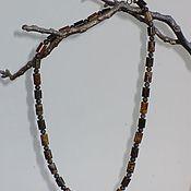 Украшения ручной работы. Ярмарка Мастеров - ручная работа Бусы-браслет из яшмы и бронзита. Handmade.