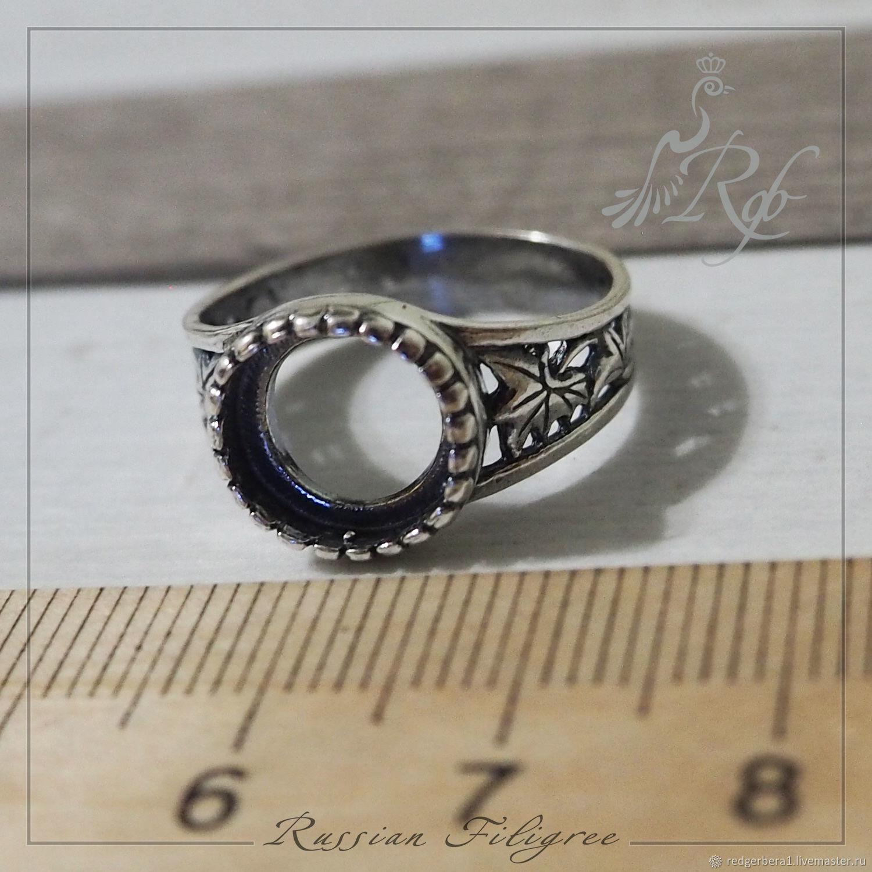 """Основа для кольца """"Ханна"""" (10 мм), серебрение 925 пробы, Заготовки для украшений, Кострома,  Фото №1"""