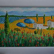 """Картины и панно ручной работы. Ярмарка Мастеров - ручная работа Картина """"Тоскана. Вечер"""". Handmade."""