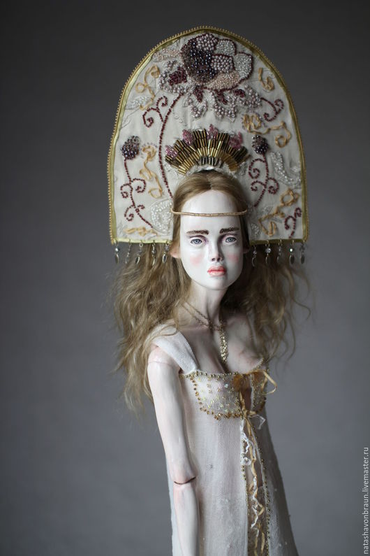 Коллекционные куклы ручной работы. Ярмарка Мастеров - ручная работа. Купить Зимнее Солнце. Handmade. Золотой, подарок, подвижная кукла