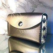 "handmade. Livemaster - original item Magical Tarot Leather Case ""Oracle`s Eye"". Handmade."
