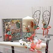 """Свадебный салон ручной работы. Ярмарка Мастеров - ручная работа Комплект """"Мята и апельсины"""". Handmade."""
