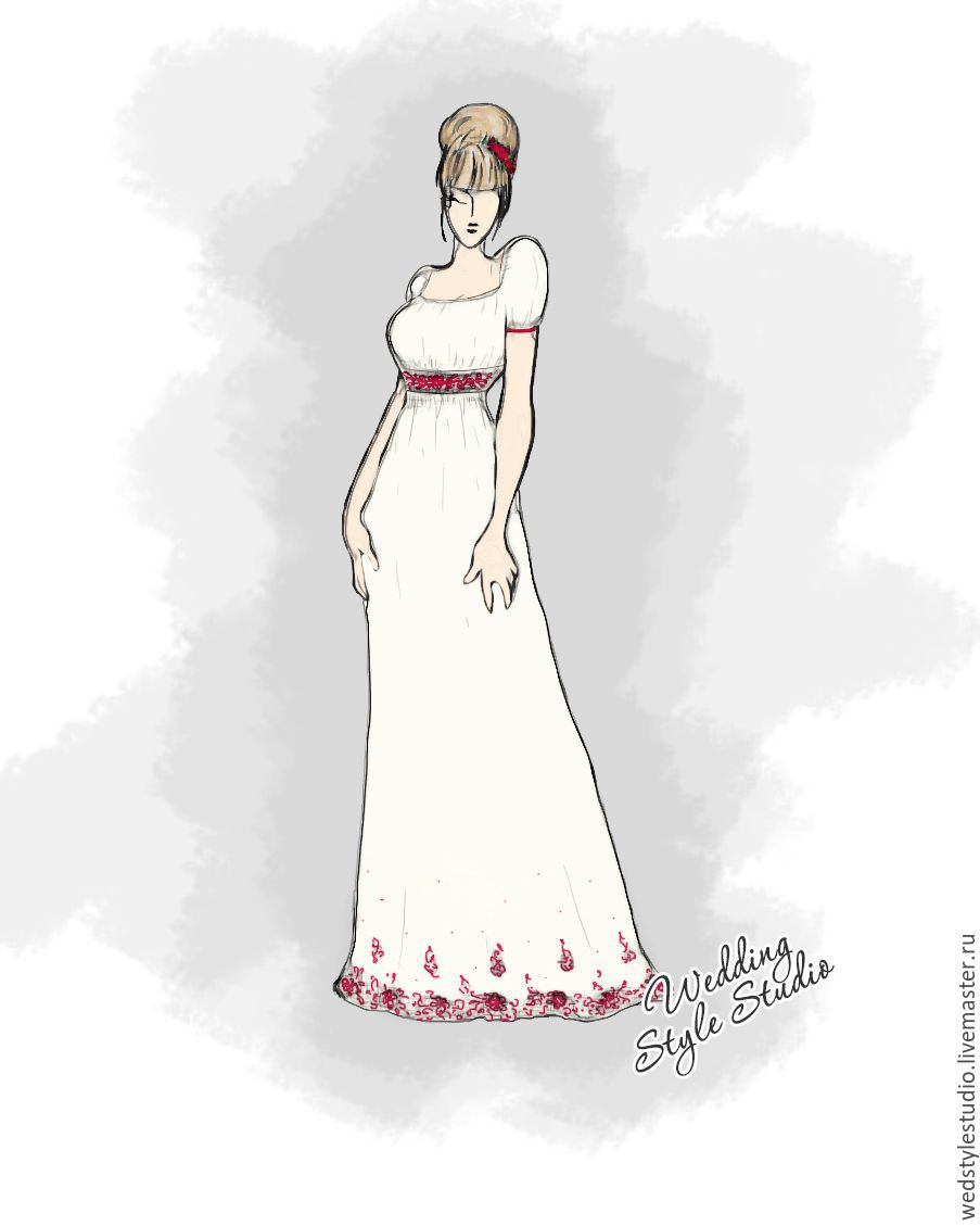 24ea71f9daecff0 Одежда и аксессуары ручной работы. Ярмарка Мастеров - ручная работа. Купить  Шелковое свадебное платье ...