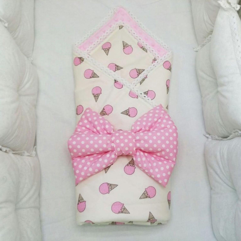 Конверт-одеяло на выписку для новорожденного с плюшем!, Конверты на выписку, Сибай,  Фото №1