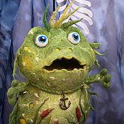 """Куклы и игрушки ручной работы. Ярмарка Мастеров - ручная работа Интерьерная игрушка """"Лягушонок Грин, можно просто Гриша"""". Handmade."""