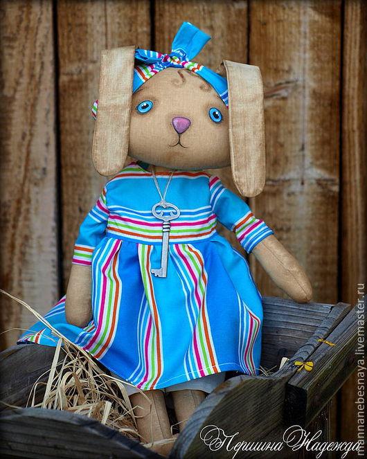 Ароматизированные куклы ручной работы. Ярмарка Мастеров - ручная работа. Купить Зайка Синеглазка 42см Ароматизированная Интерьерная Кукла Примитив. Handmade.