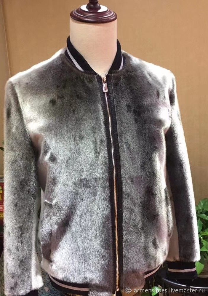 Men's jacket, bomber jacket made of sea lion fur, custom made!, Mens outerwear, Tosno,  Фото №1