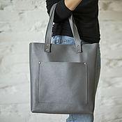 Сумки и аксессуары handmade. Livemaster - original item Leather bag in GREY. Handmade.