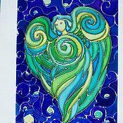 """Картины и панно ручной работы. Ярмарка Мастеров - ручная работа Роспись по стеклу """"Душа"""". Handmade."""