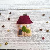 Украшения ручной работы. Ярмарка Мастеров - ручная работа Домик с деревьями. Handmade.
