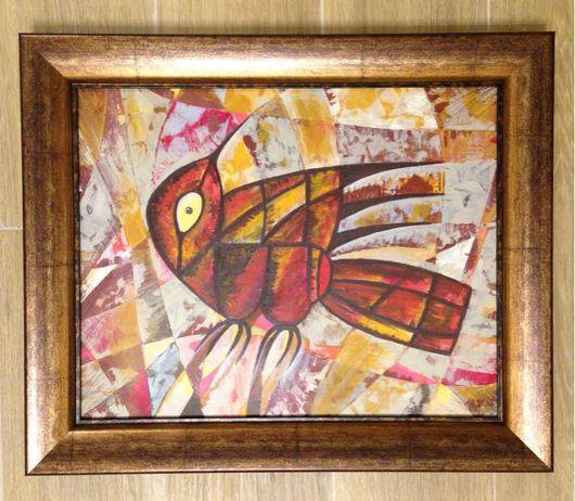 """Этно ручной работы. Ярмарка Мастеров - ручная работа. Купить Картина """"Индейская птица 2"""". Handmade. Птица, авангард, мастихин"""