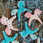 """Набор пряников ручной работы. Ярмарка Мастеров - ручная работа Пряник имбирный расписной """"Сладкая лошадка"""". Handmade."""