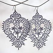 Свадебный салон handmade. Livemaster - original item earrings from lace. Handmade.