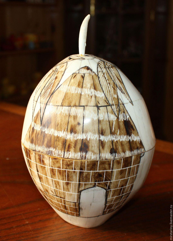 Original coconut box, handmade, Cuba, 1960s, Vintage interior, Moscow,  Фото №1