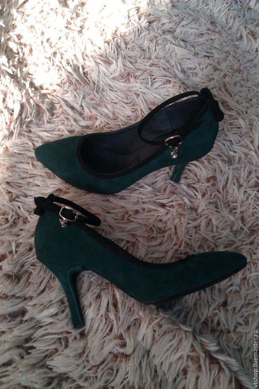 Обувь ручной работы. Ярмарка Мастеров - ручная работа. Купить Туфли на каблуке. Handmade. Хаки, натуральные материалы, натуральная замша