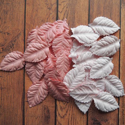 Открытки и скрапбукинг ручной работы. Ярмарка Мастеров - ручная работа. Купить Листья пастель розовые 10 шт. Handmade.