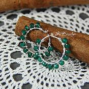 Украшения handmade. Livemaster - original item Silver earrings with emerald,