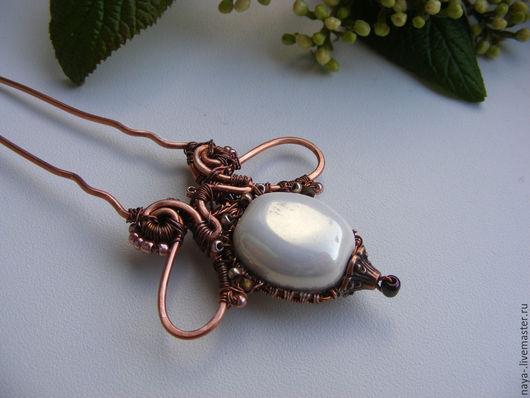 """Заколки ручной работы. Ярмарка Мастеров - ручная работа. Купить Шпилька """"Орхидея"""". Handmade. Wire wrap, креатив"""