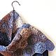 """Шарфы и шарфики ручной работы. Ярмарка Мастеров - ручная работа. Купить Шарф """"Зимняя мозаика"""". Handmade. Тёмно-синий, цветной"""