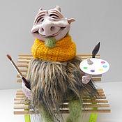 Мягкие игрушки ручной работы. Ярмарка Мастеров - ручная работа Чертенок, интерьерная игрушка. Handmade.