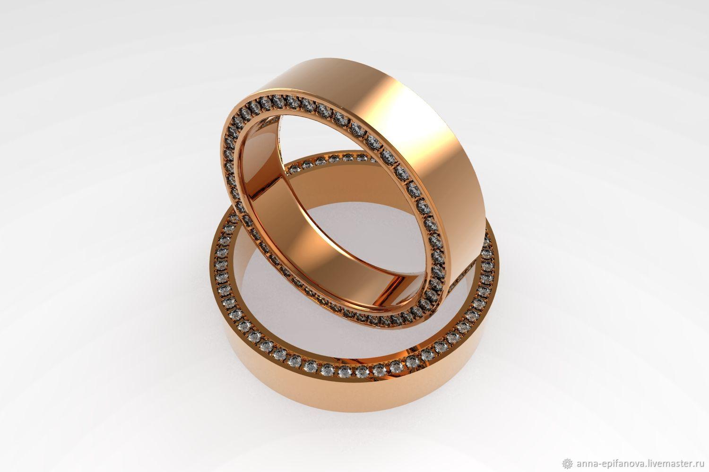b82cf4f1e8f3 Свадебные украшения ручной работы. Ярмарка Мастеров - ручная работа. Купить  Обручальные кольца, камни ...